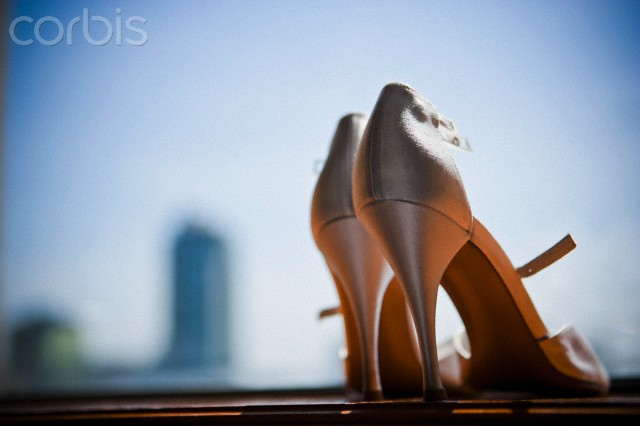 Close-up of Wedding Shoes