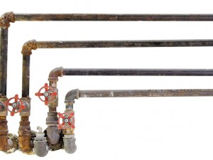Isolated Pipes with a White background.